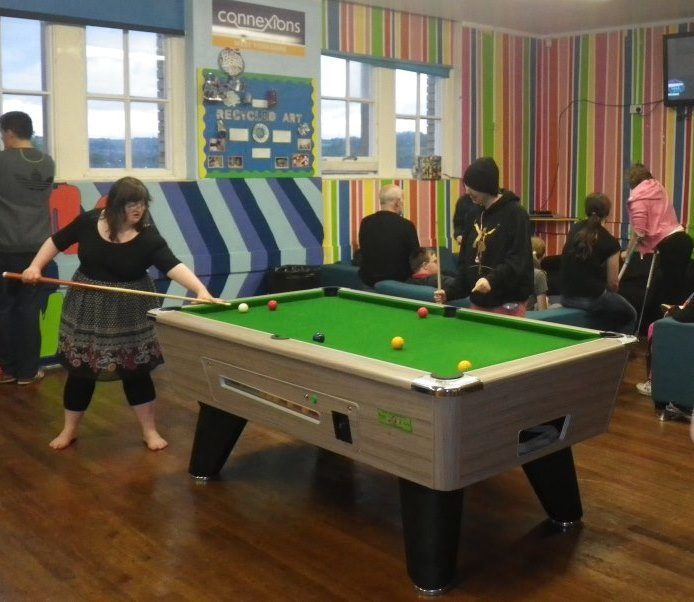 Young people and volunteers at Brighouse Youth Centre