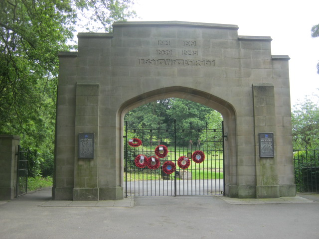 Crow Wood Park memorial entrance