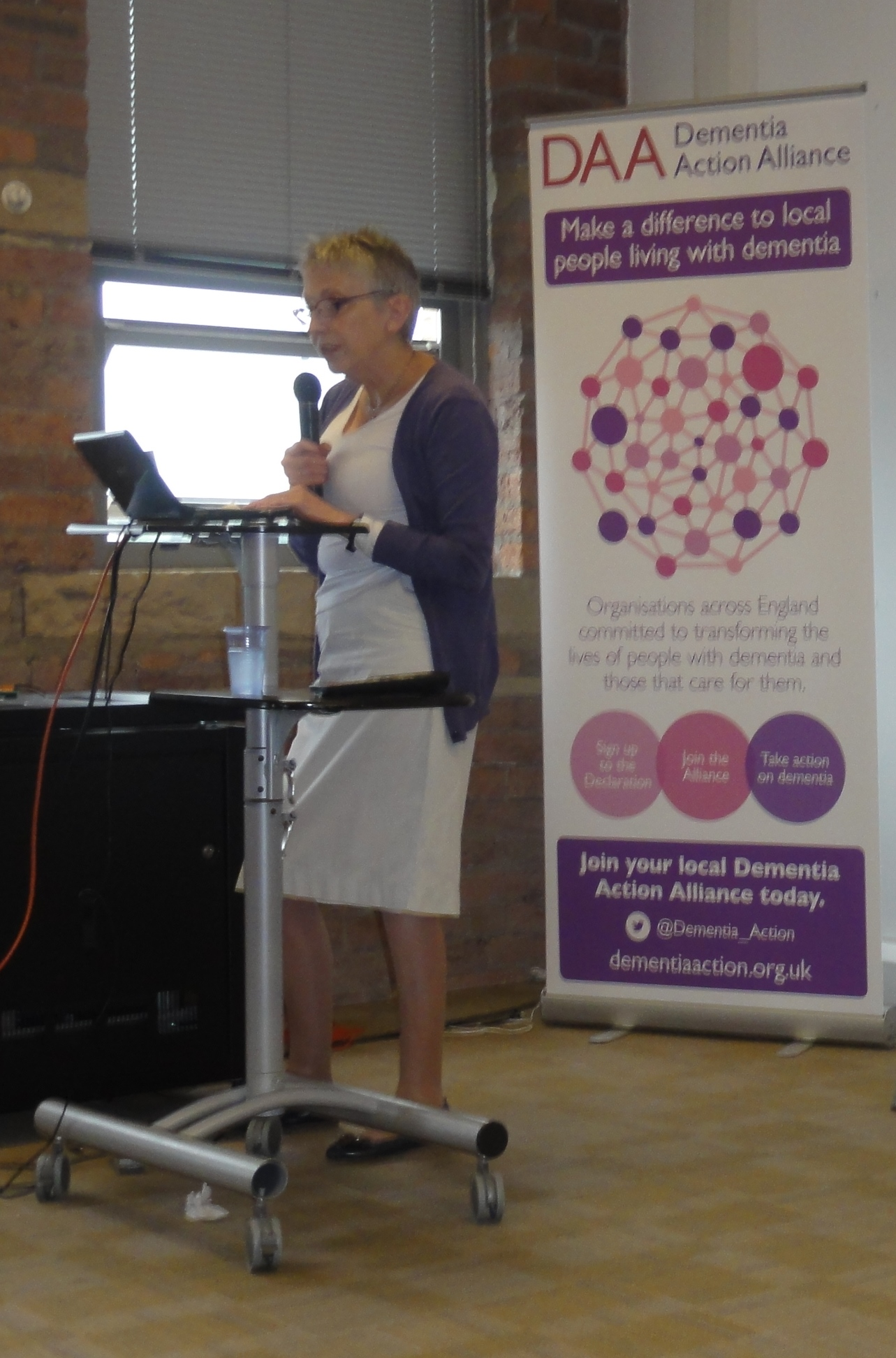 Steph Booth - launch of Calderdale Dementia Action Alliance