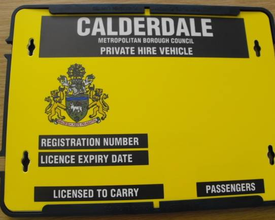 New taxi plate