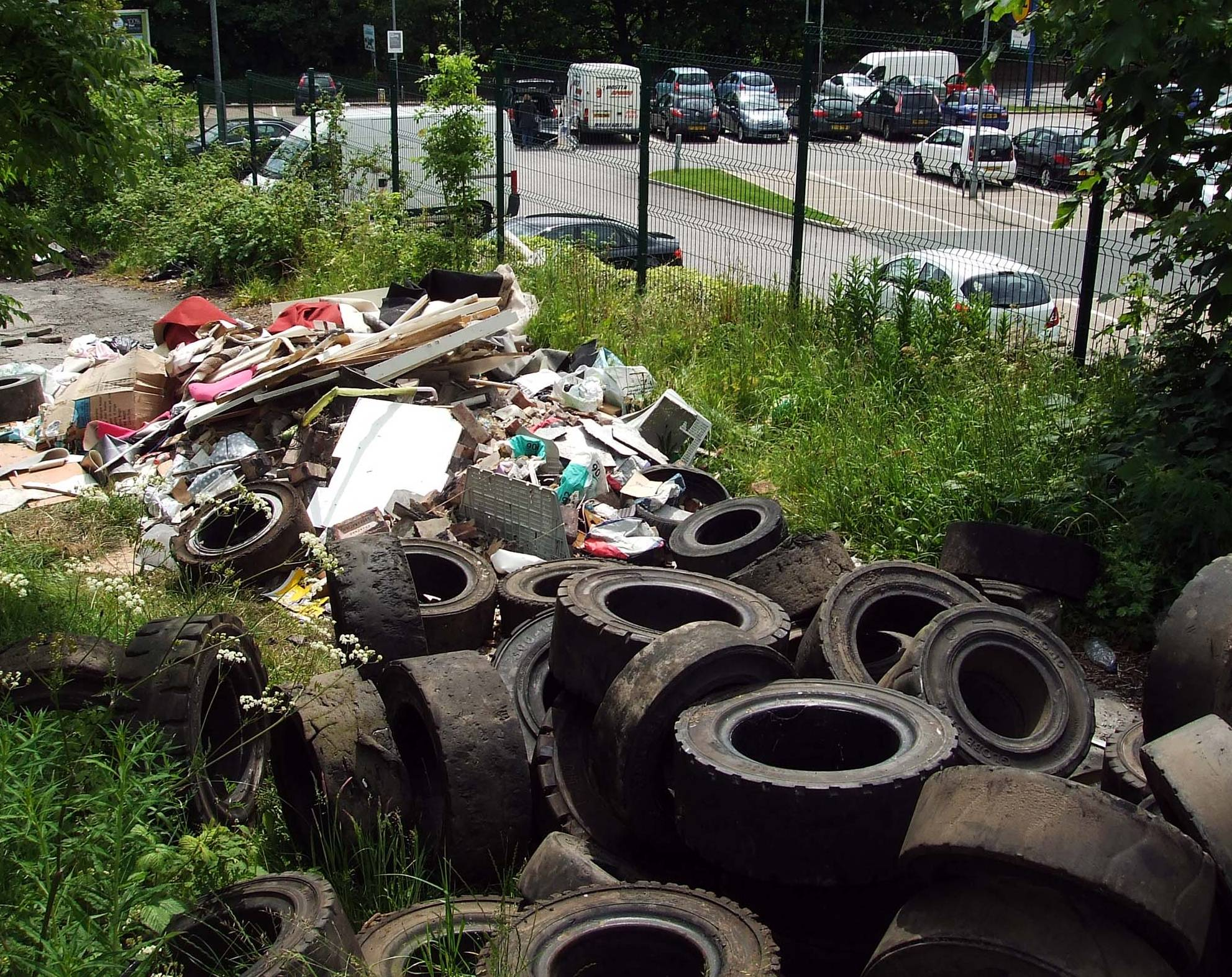 Fly-tipping before the clean up