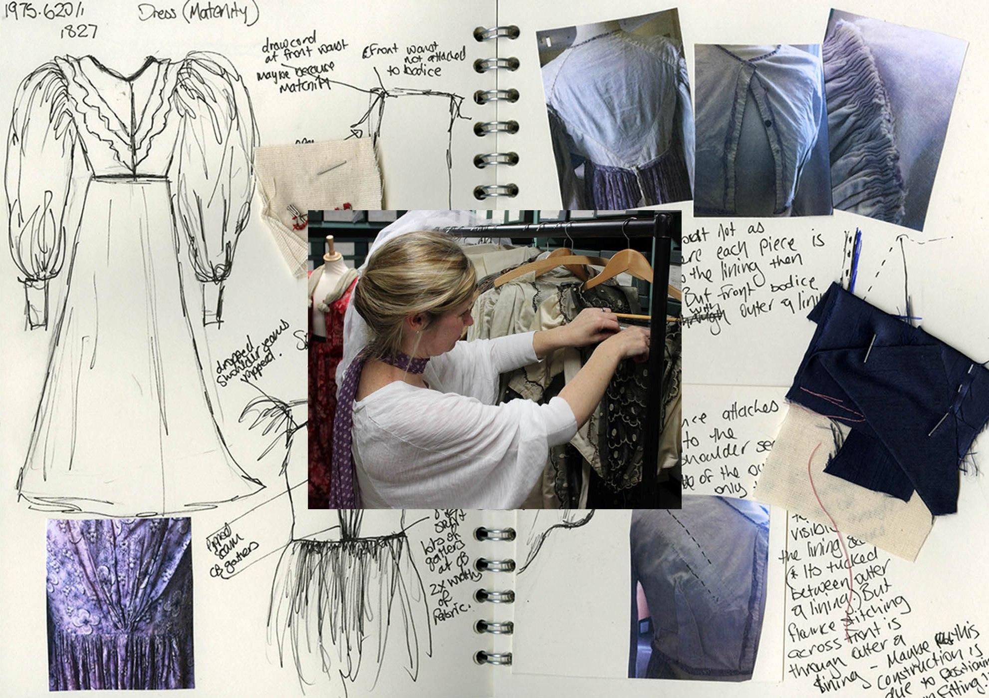 19th century dressmaking