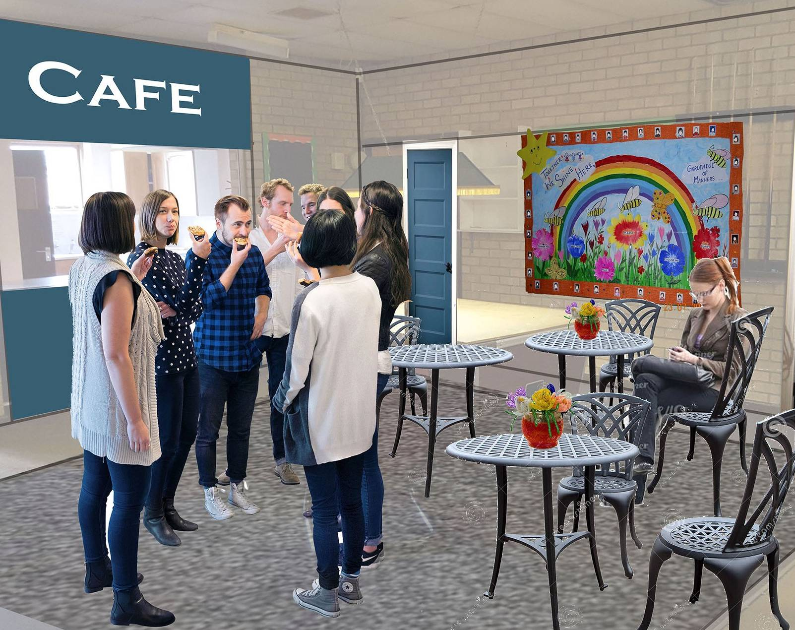 The Space - Field Lane Community Centre - cafe area