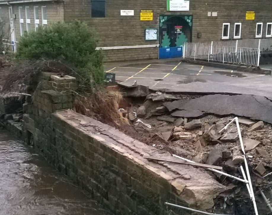 Hebden Vale flooded