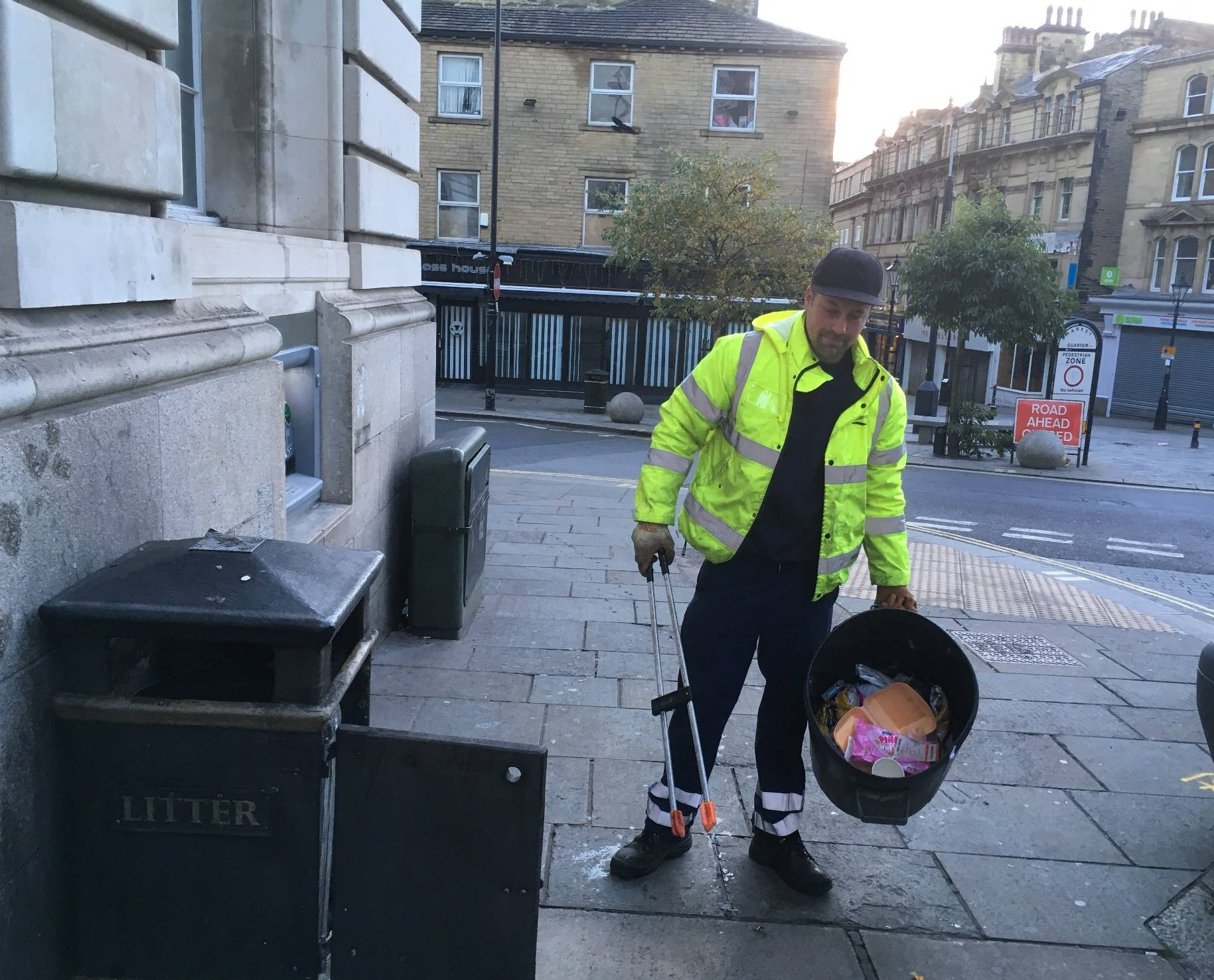 Clearing litter