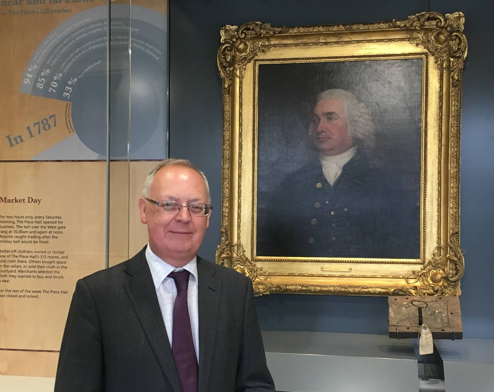Cllr Swift with portrait