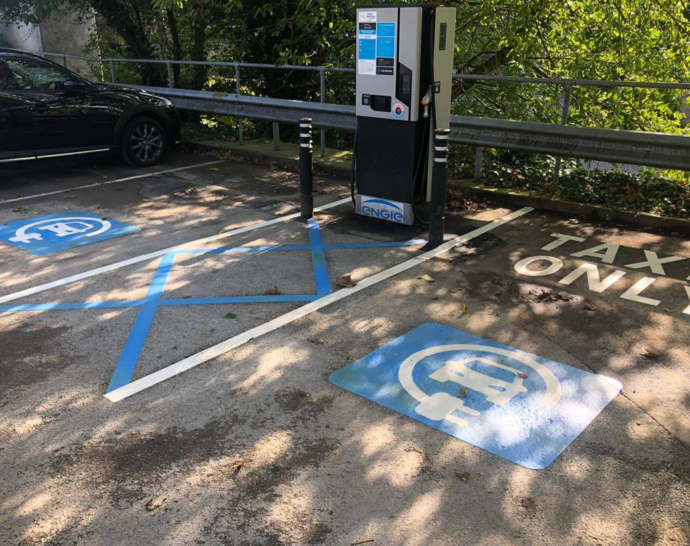 Electric charging point in North Bridge car park