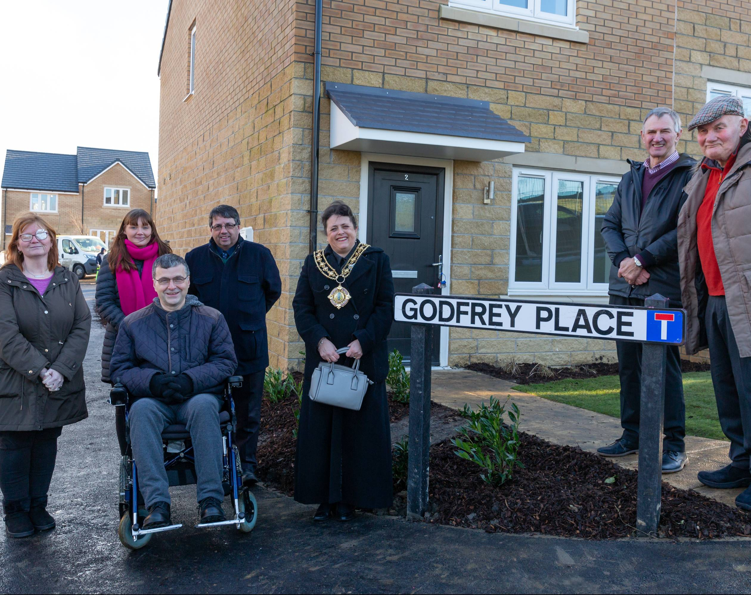 The official opening of Godfrey Place
