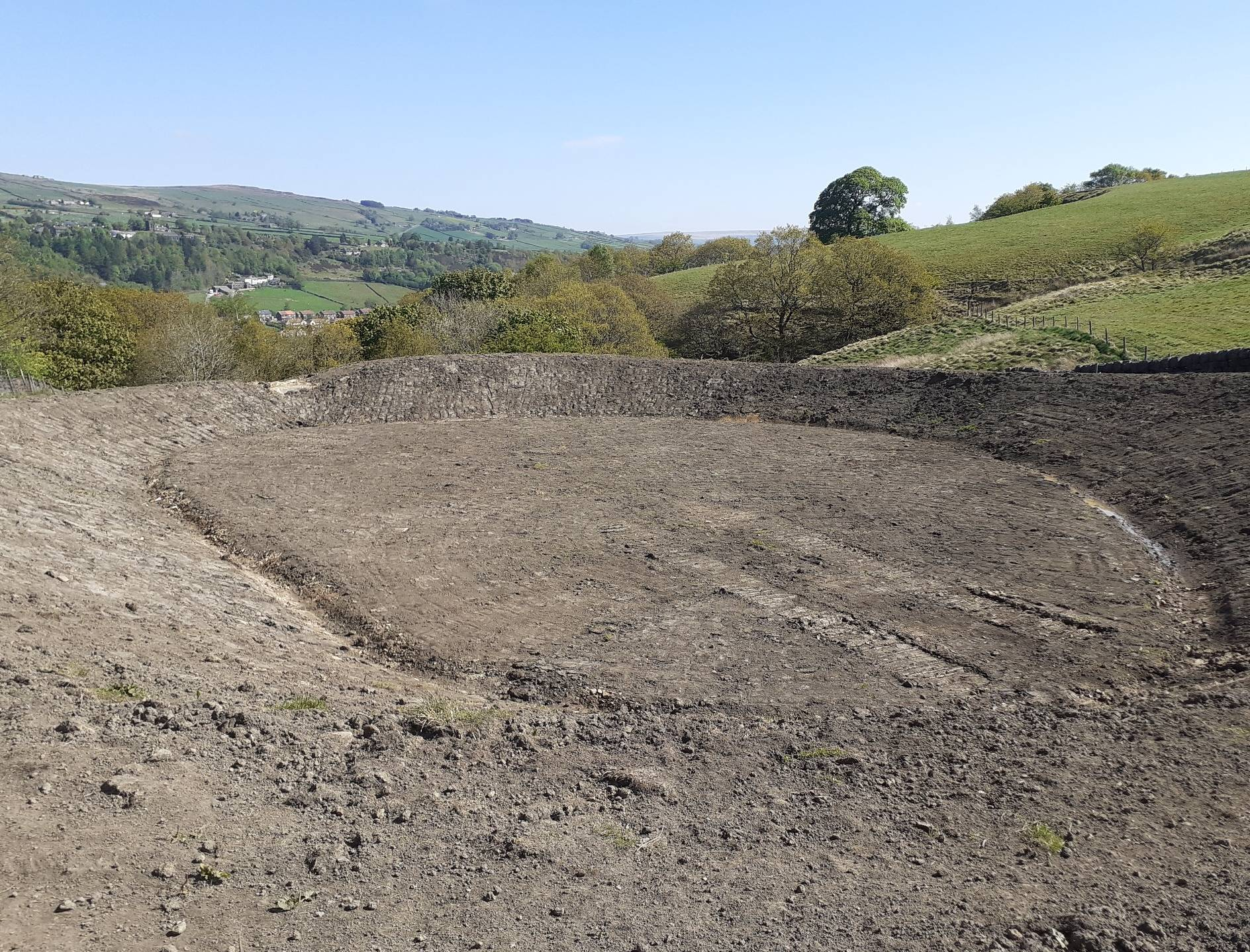 New attenuation pond above Todmorden