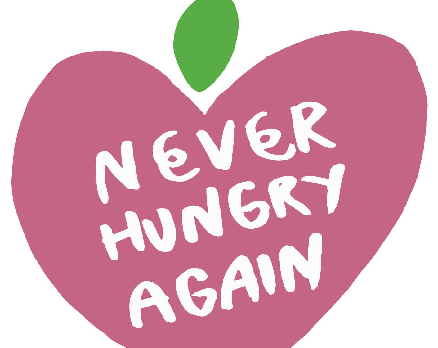 Never Hungry Again campaign logo