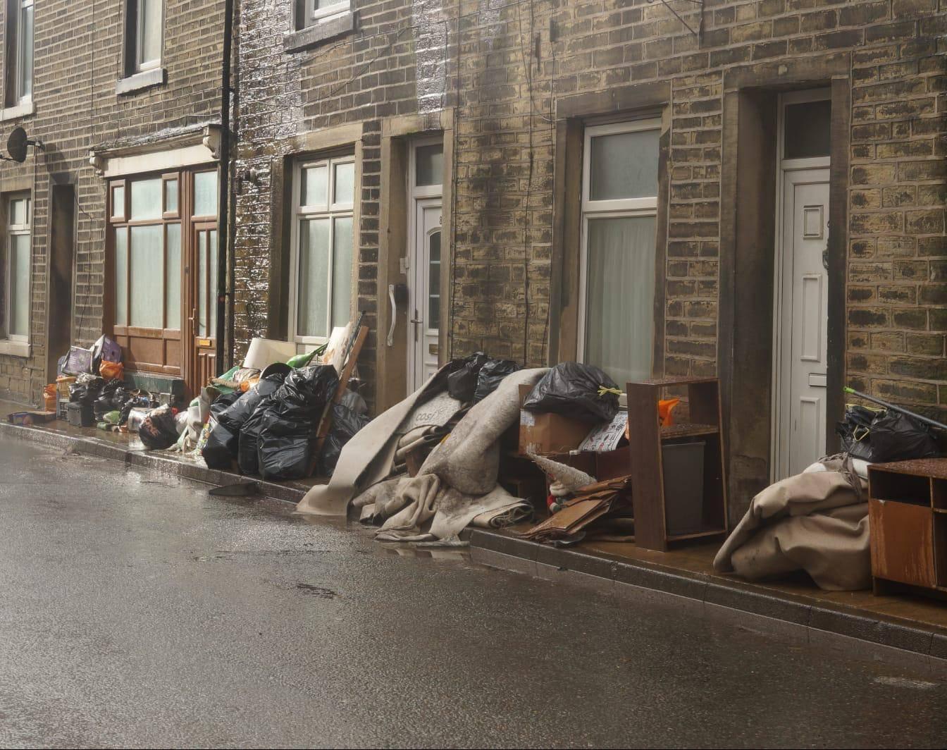 Storm Ciara damage in Calderdale