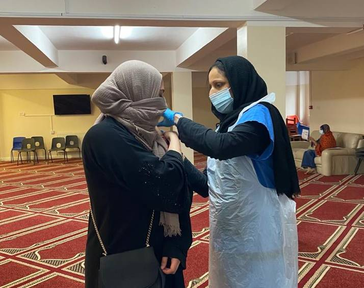 Hopwood Lane Mosque pop-up vaccine clinic