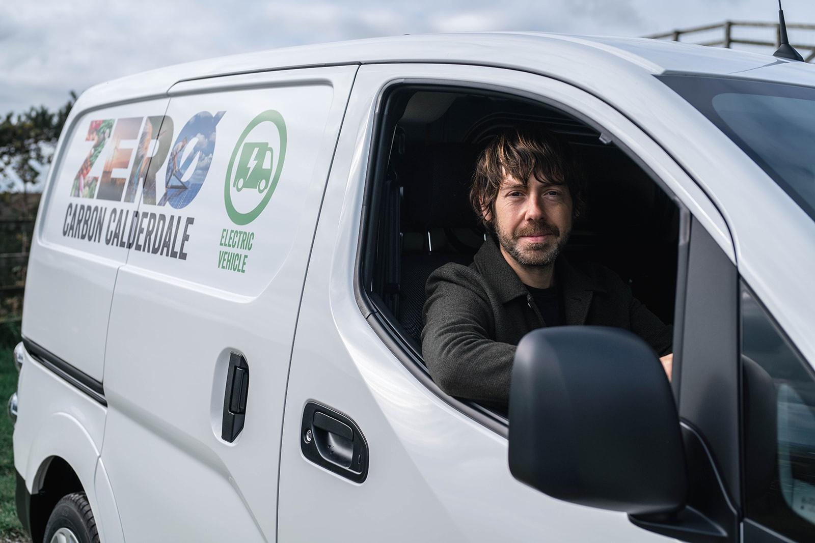 Cllr Patient in electric van