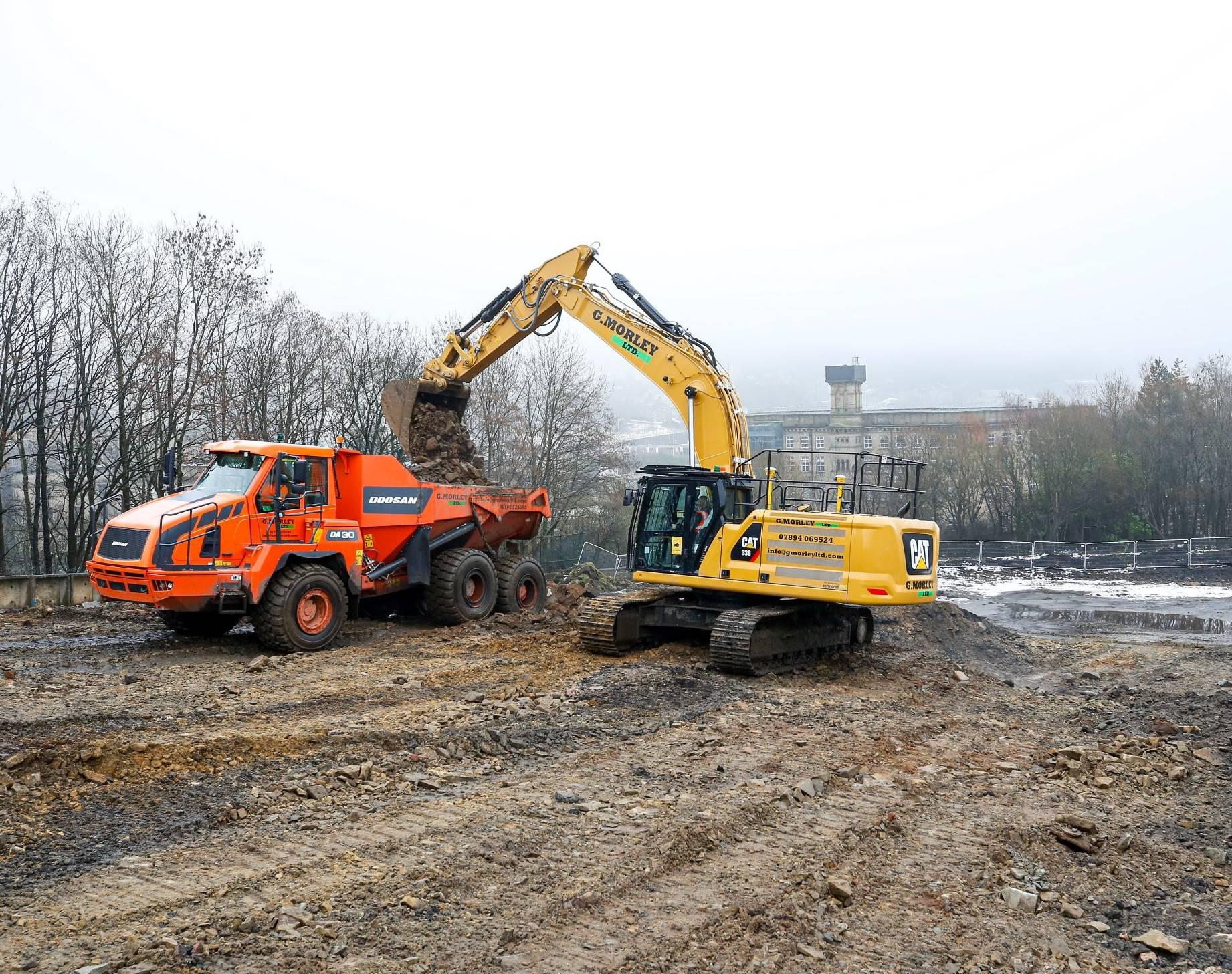 Beech Hill start on site