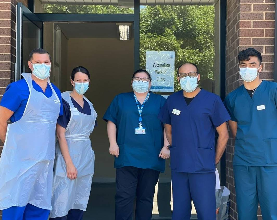 Vaccination team - pop-up clinic Ainley Industrial Estate